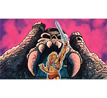 Warrior sword and castle Photographic Print