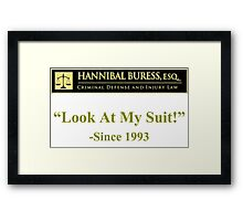Hannibal Buress Attorney at law  Framed Print