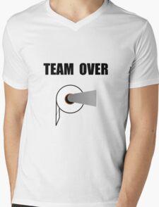 Team Toilet Paper Over Mens V-Neck T-Shirt