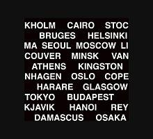 Citytype No.1 - Black Long Sleeve T-Shirt