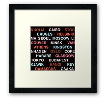 Citytype No.1 - Black/Multi Framed Print