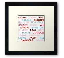 Citytype No.1 - White/Multi Framed Print