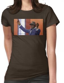 Crying Jordan Johnny Manziel on NFL Draft Day Womens Fitted T-Shirt