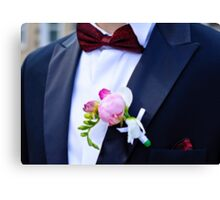 Close-up of a man in  tuxedo Canvas Print