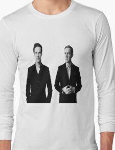 Sherlock Holmes and John Watson - Johnlock Long Sleeve T-Shirt