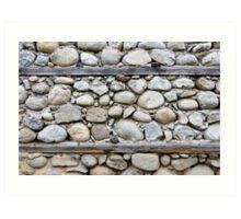 Pattern of decorative stone wall surface Art Print