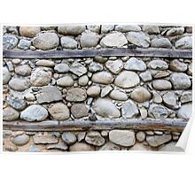 Pattern of decorative stone wall surface Poster