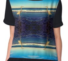 Great Blue Heron Chiffon Top