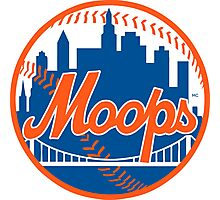 Moops Full Logo Spoof Photographic Print