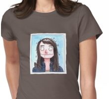 Portrait of the Artist at the DMV Womens Fitted T-Shirt