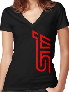 STI Classic Red Women's Fitted V-Neck T-Shirt