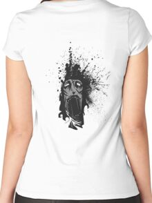 Yelling Ink Blot Women's Fitted Scoop T-Shirt