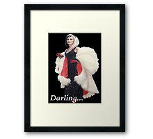 Once Upon A Time - Cruella de Vil - Darling Framed Print