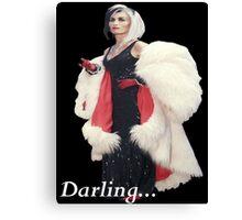 Once Upon A Time - Cruella de Vil - Darling Canvas Print