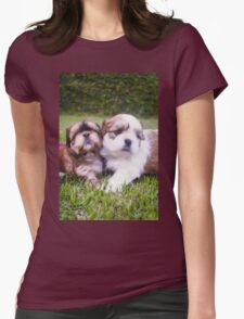 Shitzu Dog Womens Fitted T-Shirt