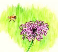 Honey Bee by Linda Ginn Art