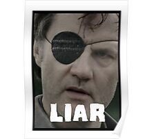 The Governor - THE WALKING DEAD (Liar) Poster