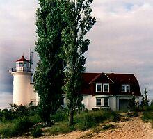 Point Bessie Lighthouse, Frankfort, Michigan by Carolann Moore