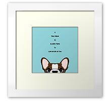 A true friend is always there to lend an ear or two   Framed Print