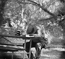 Bird Watching is hard work. by Corri Gryting Gutzman