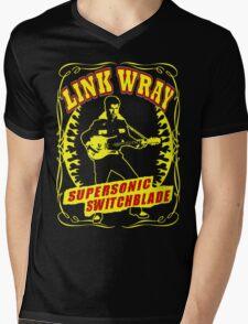 Link Wray (Supersonic Switchblade) Colour Mens V-Neck T-Shirt
