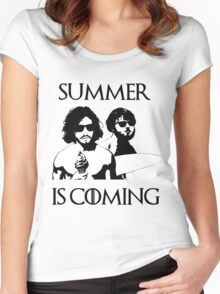 summer is coming Women's Fitted Scoop T-Shirt