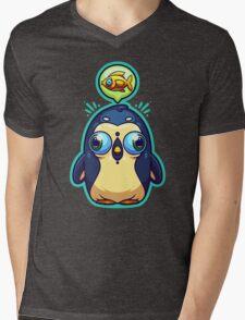 Hungry Penguin Mens V-Neck T-Shirt
