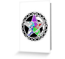 Five Elements Colour Version Greeting Card