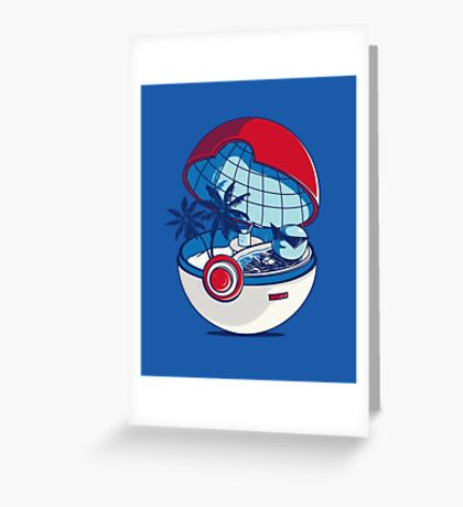 Pokemon - Carapuce Jaccuzi  Greeting Card