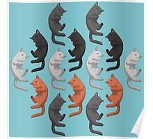 Sleeping Cats Pattern Poster