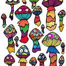 Trippedout Mushooms by Octavio Velazquez