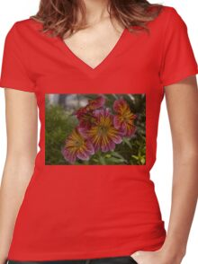 Exotic Spring Flowers  Women's Fitted V-Neck T-Shirt