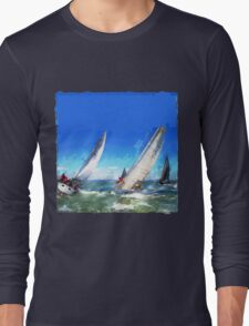 Sailboats Racing in the Wind Long Sleeve T-Shirt