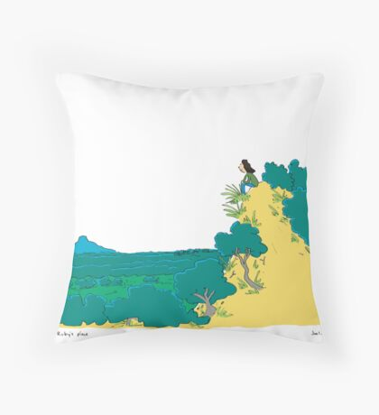 Ruby's place Throw Pillow
