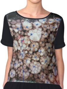 travelling east into the past Chiffon Top