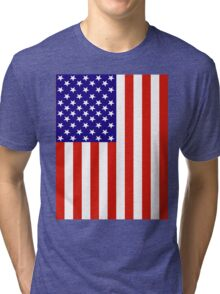 Red,White and Blue USA Flag Tri-blend T-Shirt
