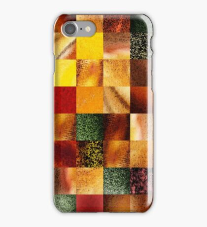 Geometric Design Squares Pattern Abstract I  iPhone Case/Skin
