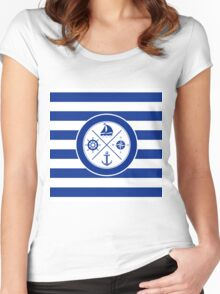 Nautical Design 06 Women's Fitted Scoop T-Shirt