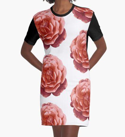 Rose Halftone Graphic T-Shirt Dress