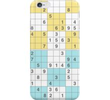 pastel sudoku iPhone Case/Skin