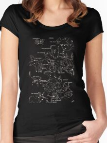 1920's Constellation Map Women's Fitted Scoop T-Shirt