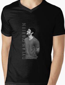 Dylan O'Brien - Black and White Mens V-Neck T-Shirt