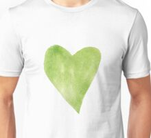 Green Watercolor Heart Unisex T-Shirt