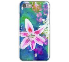 Watercolor Flower numero uno (side) iPhone Case/Skin