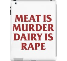 MEAT IS MURDER iPad Case/Skin