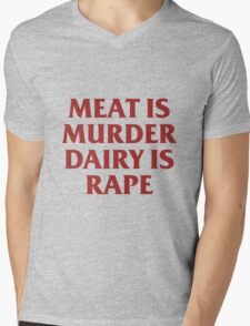 MEAT IS MURDER Mens V-Neck T-Shirt