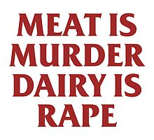 MEAT IS MURDER by rule30