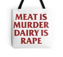 MEAT IS MURDER Tote Bag