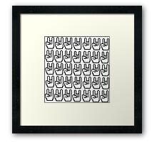 8-bit Rock Sign Framed Print