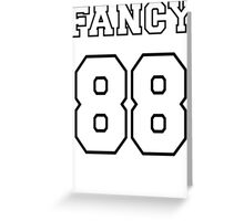 Fancy 88 - on light colors Greeting Card